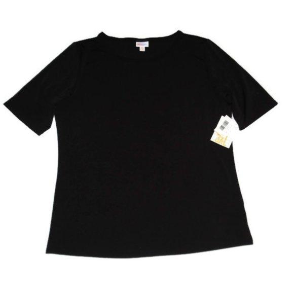 New Lularoe Gigi Black Short Sleeve Shirt Stretch